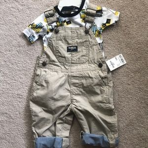 Boys overalls with t shirt